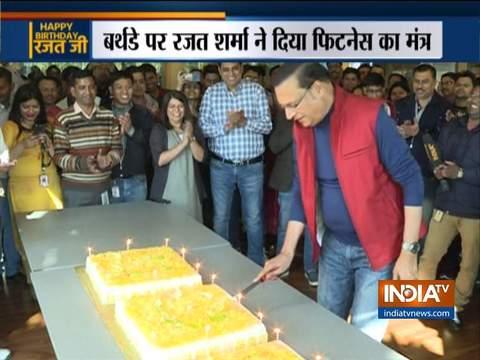 अपने जन्मदिन पर इंडिया टीवी के एडिटर इन चीफ रजत शर्मा का फिटनेस मंत्र