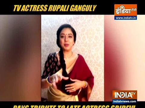 Anupamaa: Rupali Ganguly pays tribute to Sridevi