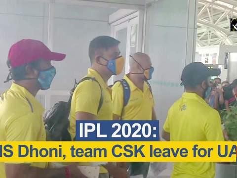 IPL 2020: MS Dhoni, team CSK leave for UAE