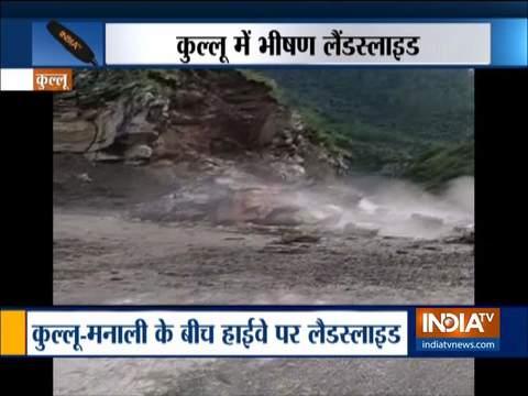 हिमाचल प्रदेश: भारी बारिश से कुल्लू-मनाली हाईवे पर हुआ भूस्खलन, कोई हताहत नहीं