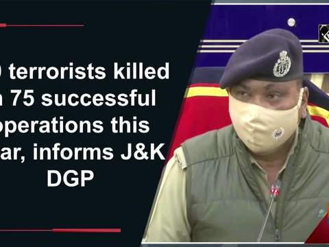 180 terrorists killed in 75 successful operations this year, informs JK DGP