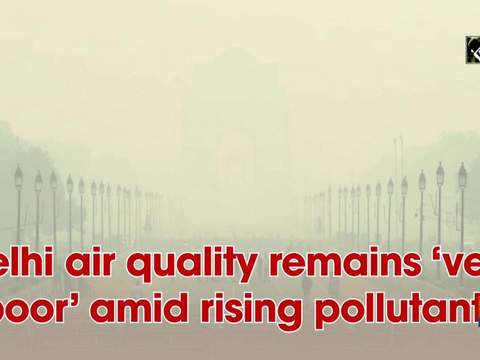 Delhi air quality remains 'very poor' amid rising pollutants