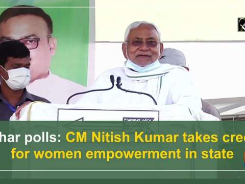 Bihar polls: CM Nitish Kumar takes credit for women empowerment in state