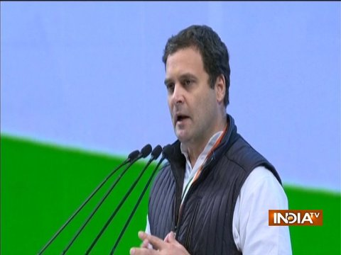 Rahul Gandhi takes a jibe at PM Modi during Congress Plenary Session