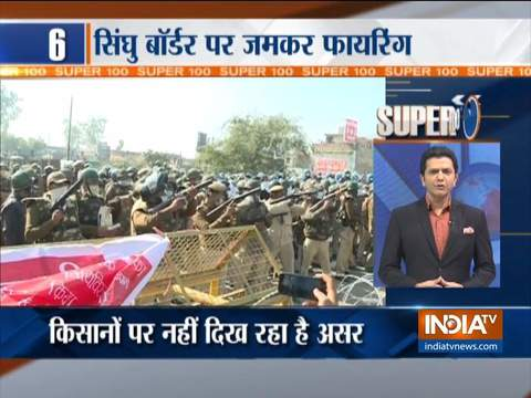 Super 100 | Lathicharge and Tear Gas Against Farmers at Delhi Border
