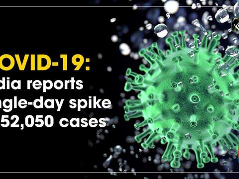 COVID-19: India reports single-day spike of 52,050 cases