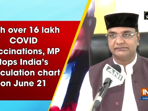 With over 16 lakh COVID vaccinations, MP tops India's inoculation chart on June 21