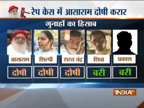 Asaram rape case verdict : Hearing on quantum of punishment underway