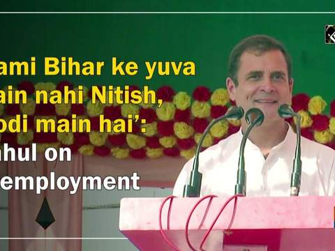 'Kami Bihar ke yuva main nahi Nitish, Modi main hai': Rahul on unemployment