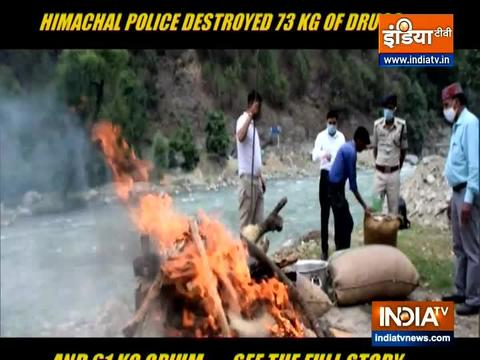 Himachal Pradesh: Police destroy large quantity of drugs in Kullu