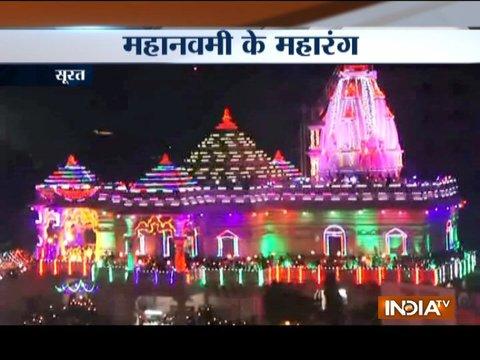 Durga Ashtami: Thousands of devotees gather for maha arti across India