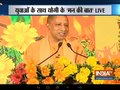 UP CM Yogi Adityanath interacts with the students in Lucknow