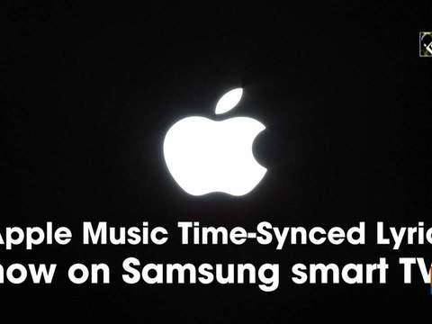 Apple Music Time-Synced Lyrics now on Samsung smart TVs