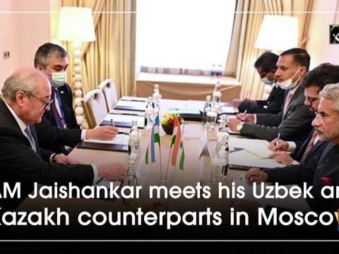 EAM Jaishankar meets his Uzbek and Kazakh counterparts in Moscow