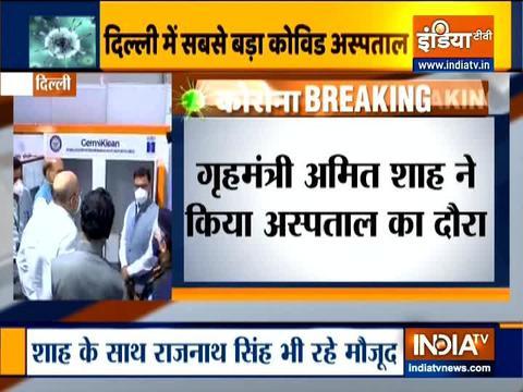 अमित शाह के साथ रक्षा मंत्री राजनाथ सिंह ने किया नये DRDO निर्मित  COVID-19 अस्पताल का दौरा