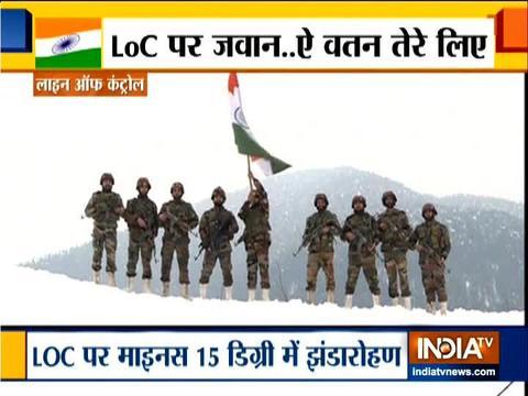भारतीय सेना ने कश्मीर में 71 वां गणतंत्र दिवस मनाया