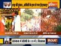 Telangana: BJP leader Amit Shah holds roadshow at Warasiguda in Secunderabad