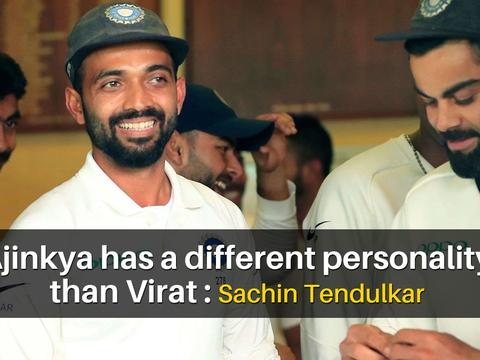 AUS vs IND: Rahane has different personality than Kohli, feels Sachin Tendulkar