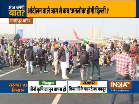Tomar, Goyal hold talks with farmer leaders amid protest; heavy traffic jam on Delhi borders