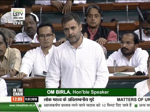 राहुल गांधी ने लोकसभा में उठाया किसानों का मुद्दा, राजनाथ सिंह ने दिया जवाब