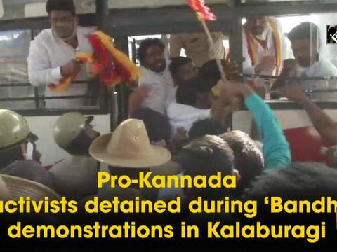 Pro-Kannada activists detained during 'Bandh' demonstrations in Kalaburagi