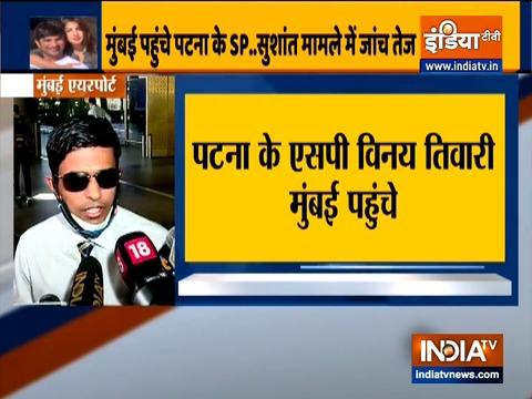पटना के एसपी विनय तिवारी मुंबई पहुंचे