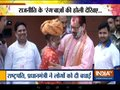 BJP leader Mukhtar Abbas Naqvi celebrates Holi with zeal