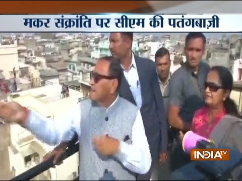 CM Vijay Rupani spotted flying kite on Makar Sankranti