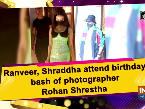 Ranveer, Shraddha attend birthday bash of photographer Rohan Shrestha