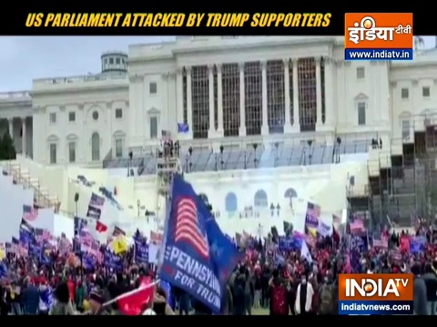US Parliament attacked by Trump supporters to overturn America's presidential election