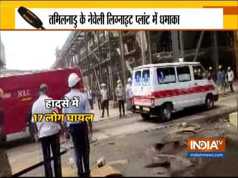 Explosion at a boiler of the Neyveli lignite plant in Tamil Nadu