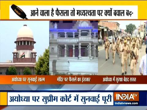 Muslim parties accuse mediation panel of leaking info; security tightened in Ayodhya