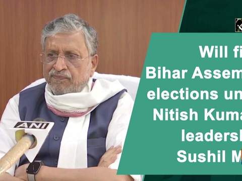 Will fight Bihar Assembly elections under Nitish Kumar's leadership: Sushil Modi