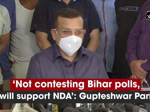 'Not contesting Bihar polls, but will support NDA': Gupteshwar Pandey