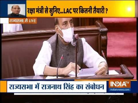 राज्यसभा में राजनाथ सिंह बोले- भारत किसी भी स्थिति से निपटने के लिए तैयार