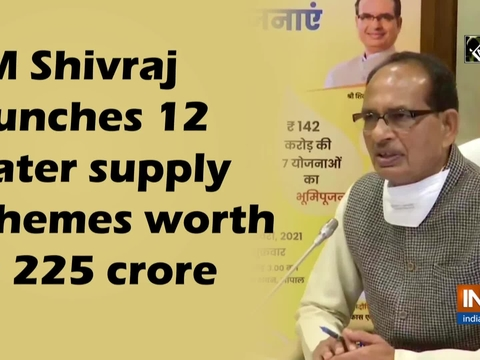MP CM Shivraj launches 12 water supply schemes worth Rs 225 crore