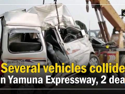 Several vehicles collide on Yamuna Expressway, 2 dead