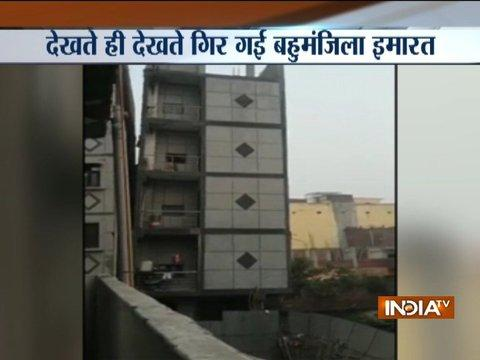 MCD carriage controlled explosion to demolish 5 storey building in Jasola Vihar