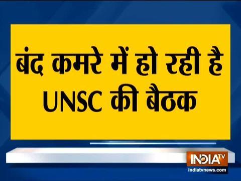 कश्मीर पर UNSC की बैठक शुरू