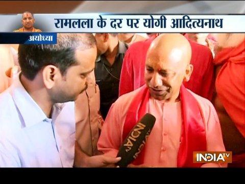 Ayodhya: Uttar Pradesh CM Yogi Adityanath visits Ram Janmabhoomi