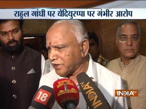 BS Yeddyurappa slams Rahul Gandhi for visiting temple after eating chicken