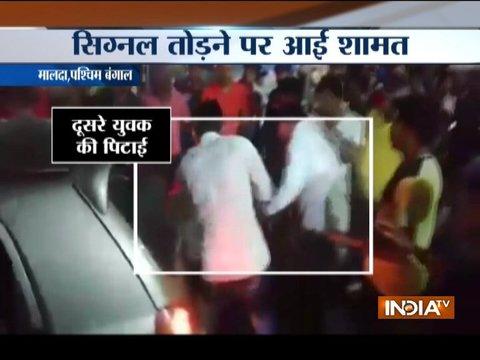 मालदा में सिग्नल तोड़ने पर चार लड़कों को भीड़ ने पीटा