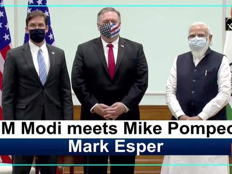 PM Modi meets Mike Pompeo, Mark Esper