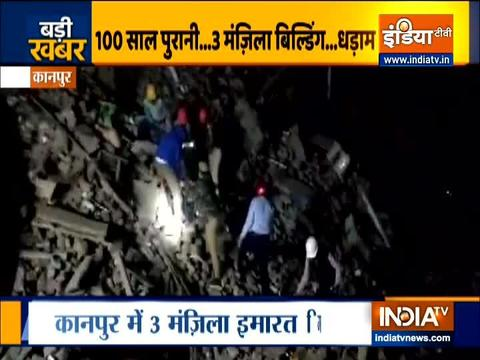 3-storey building collapses in Kanpur's Kuli Bazar