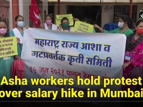 Asha workers hold protest over salary hike in Mumbai