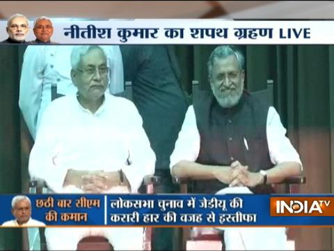 Sushil Modi takes oath as deputy chief minister of Bihar