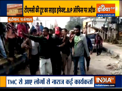 Clash between TMC,BJP workers in West Bengal's Bardhaman