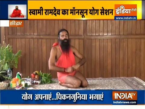 Swami Ramdev shares correct way to do Mandukasana
