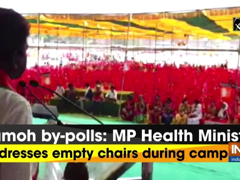 Damoh by-polls: MP Health Minister addresses empty chairs during campaign