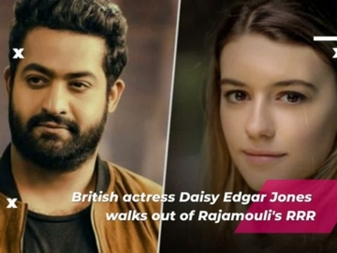 British actress Daisy Edgar Jones walks out of Rajamouli's RRR